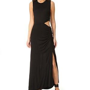 A.L.C. Jaxon Sleeveless Ruched Cutout Maxi Dress